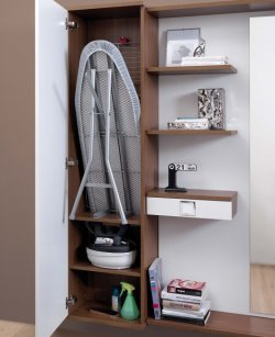 Maconi hallway cabinets with ironing board