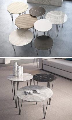 Tavolini da salotto in gres effetto marmo