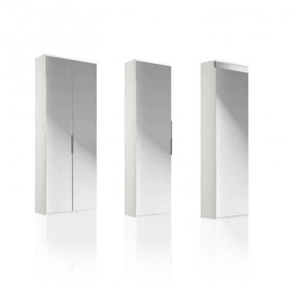 Scarpiera a specchio con anta unica o doppia Family Mirror Doors