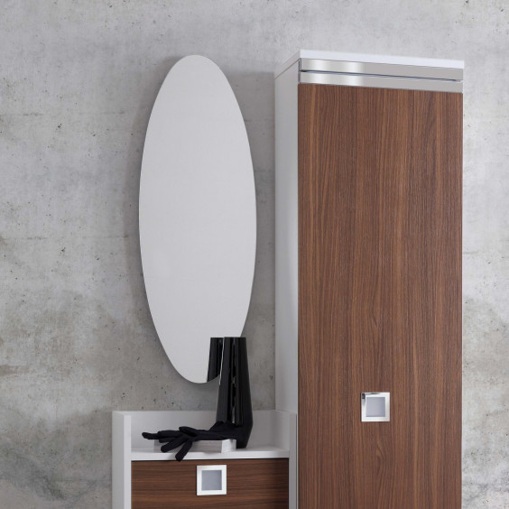 Specchiera ovale da parete Family Ovale
