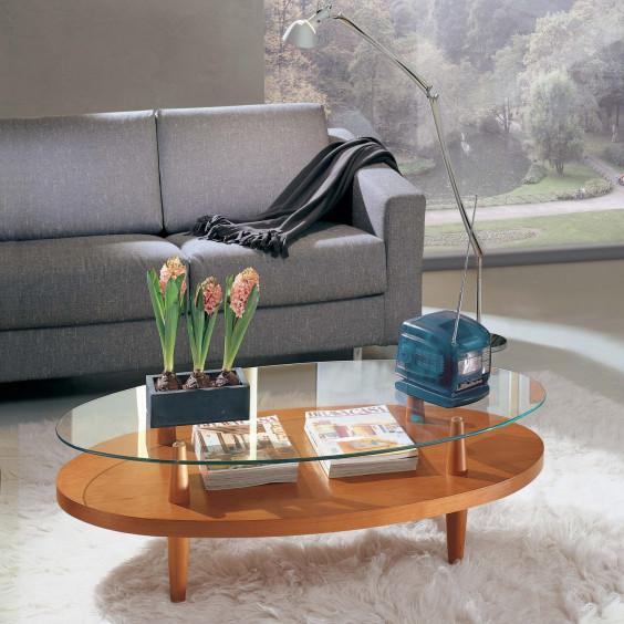 Tavolino da salotto ovale uovo wood for Tavolini arredo