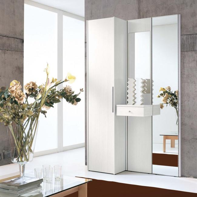Mobile ingresso legno bianco astor a09 for Ingresso casa moderno