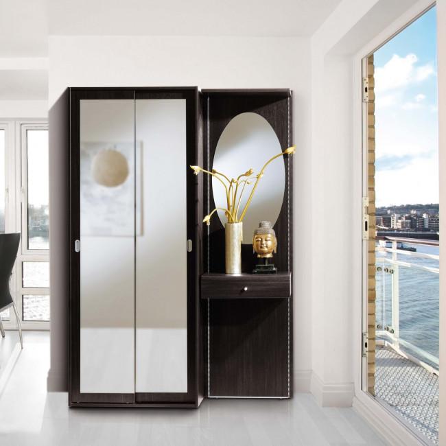 Mobile ingresso con armadietto a specchio astor a13 for Cappottiera ingresso