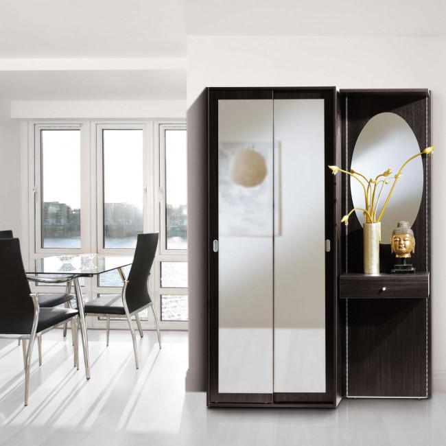 Beautiful mobile per ingresso con armadietto a specchio - Ingressi con specchio ...