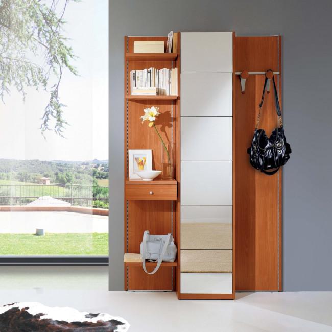 Mobile ingresso in legno e specchio astor a17 - Ingresso con specchio ...