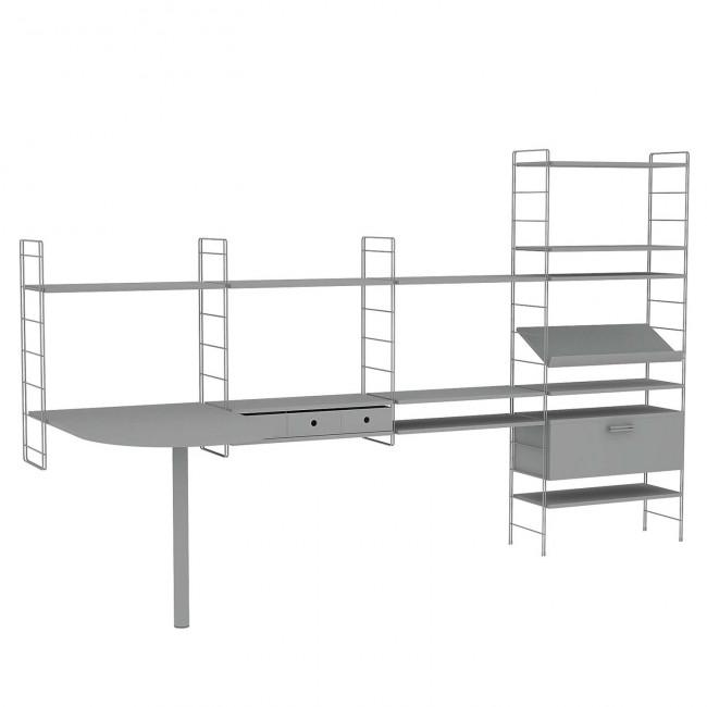 Scaffale componibile per ufficio link office for Ikea scaffali in metallo