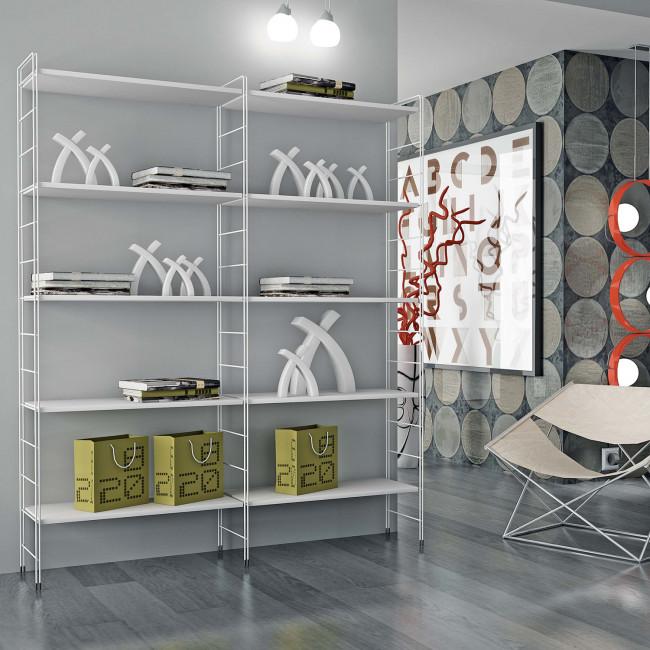 Libreria Metallo Modulare.Scaffale Modulare In Metallo Link Free
