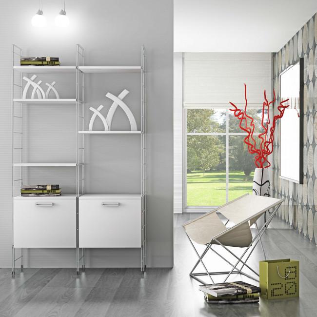 Libreria Lamiera A Parete Swing Cattelan : Tavolini moderni bianco