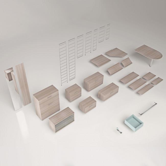 Scaffale modulare in metallo link free for Scaffale legno componibile