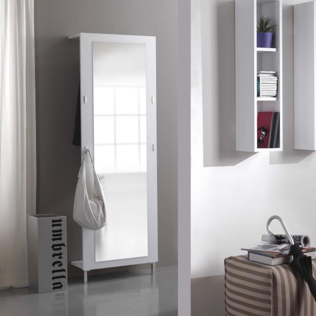 Specchiera appendiabiti da ingresso evolution e01 - Appendiabiti con specchio da parete ...