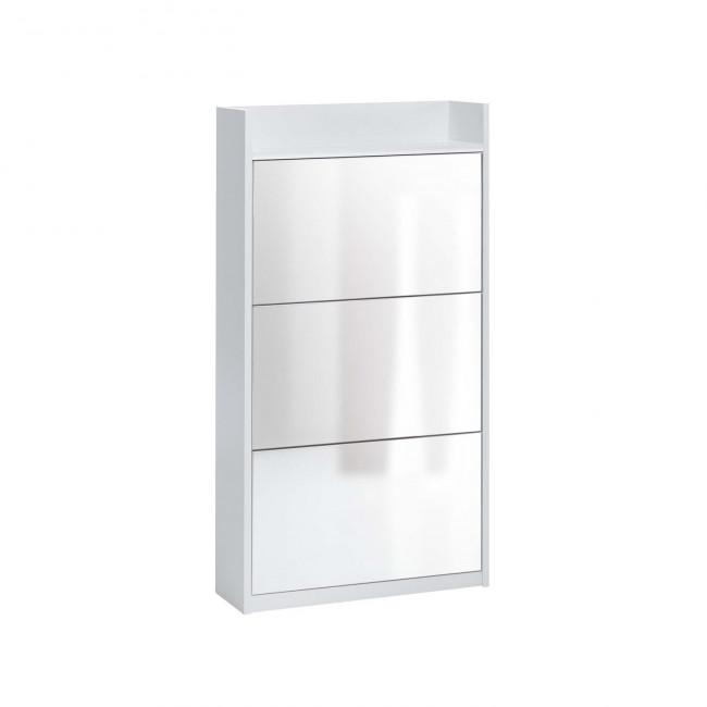 Scarpiera a specchio moderna family mirror - Scarpiera specchio bianca ...