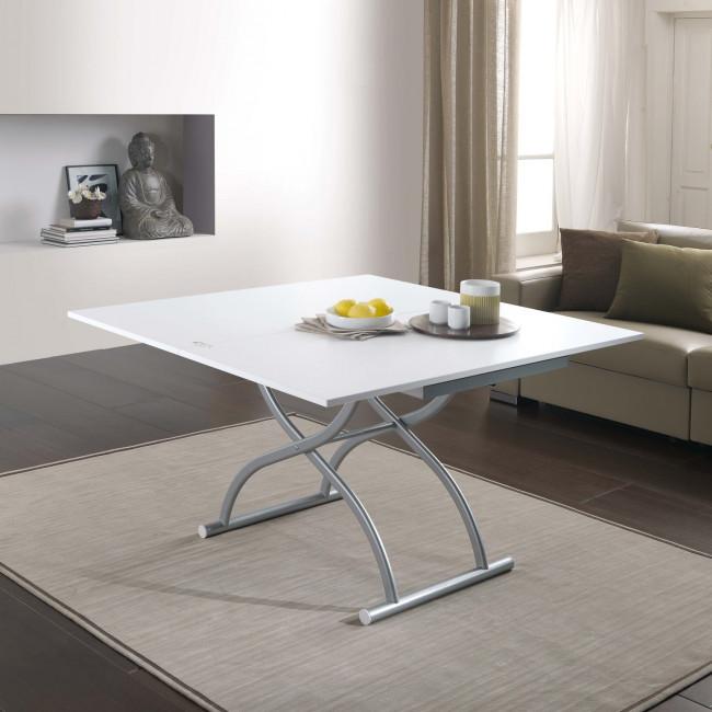 Tavolino trasformabile in tavolo quadrato Co-Ala