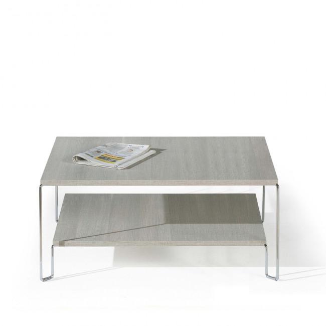 Tavolino quadrato con due ripiani new line for Complementi arredo salotto