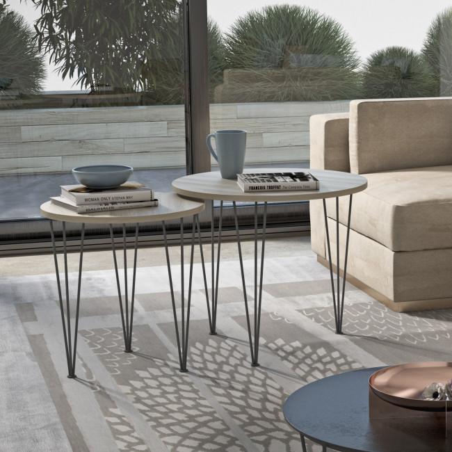 Tavolino fianco divano piramide wood for Complementi arredo salotto