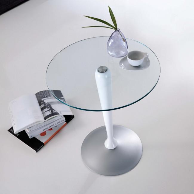 Tavolino servitore in cristallo Maggiordomo