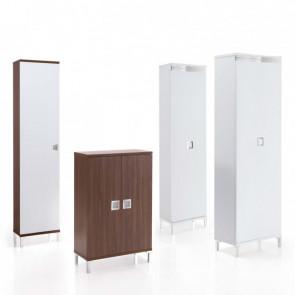 Evolution Wood è un armadio scarpiera scorrevole a un'anta o due, in legno, bianco o tortora