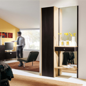 Mobile da ingresso con specchio e faretto Astor A01