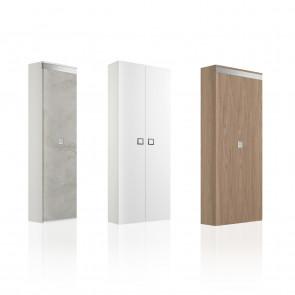 Family Wood Doors è un armadio scarpiera scorrevole a un'anta o due, in legno, bianco o tortora