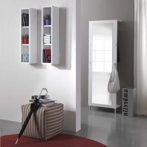 Mensola libreria in legno Evolution E05, in nadir / seta grigio chiaro e scuro