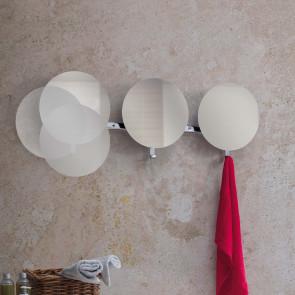 Specchio rotondo appendiabiti Lady