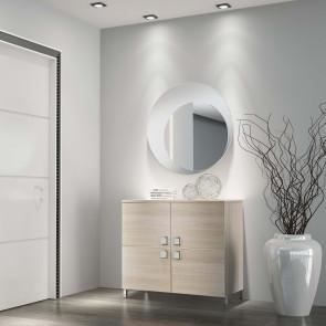 Mobiletto da ingresso Evolution E14 completo di specchio con cornice