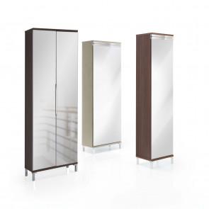 Scarpiera a specchio con anta unica o doppia Evolution Mirror