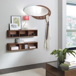 Specchio appendiabiti ovale evolution legno - Specchio ovale bagno ...