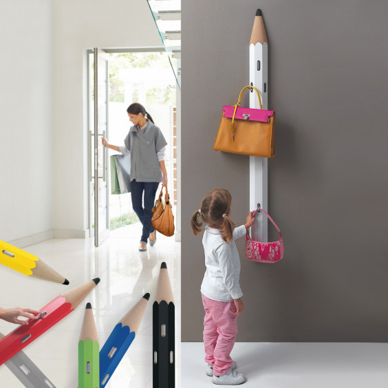 Matità modern coat rack coming with a pencil shape.