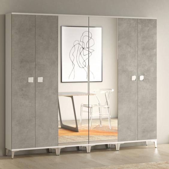 Space-saving 6-door hallway wardrobe 190 cm wide, only 31 cm deep and 190 cm high