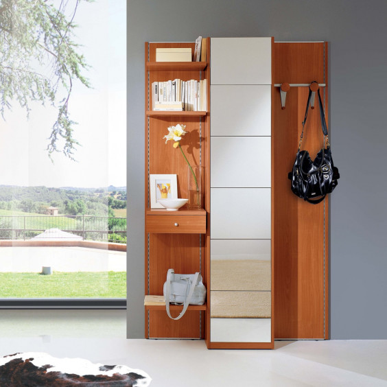 Astor A17 slim hallway furniture with mirror