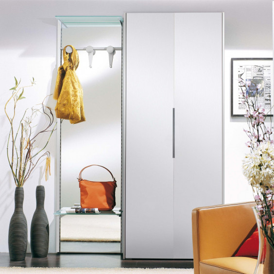 Astor A21 is a contemporary hallway storage system with a two-door wardrobe and a full length mirror