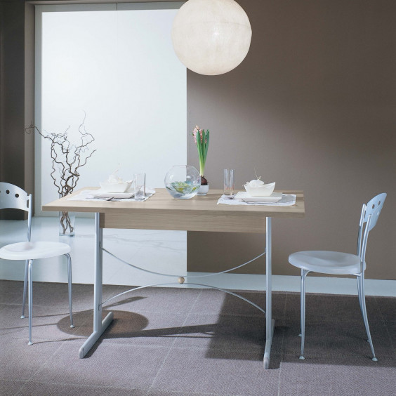 Diesis console table with opened top: it converts into a dining table