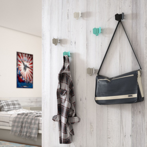 Dumbo wall mounted coloured metal coat hooks: cute, durable and low cost