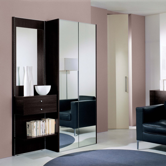 Hallway wardrobe with mirrored doors Astor A20