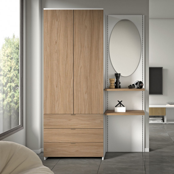 Hallway wardrobe with mirrored doors Astor A20