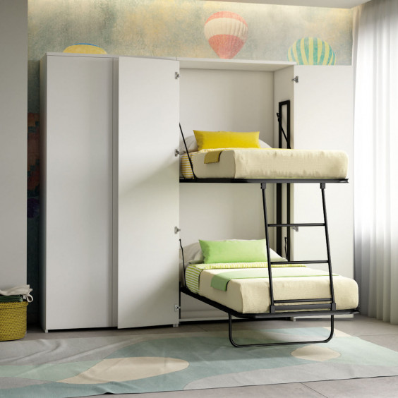 Wardrobe with murphy bunk bed Night n' Day N08