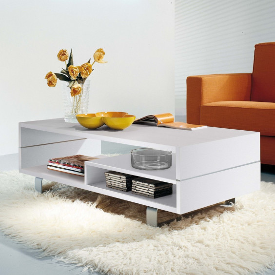 Oxford white sitting room coffee table