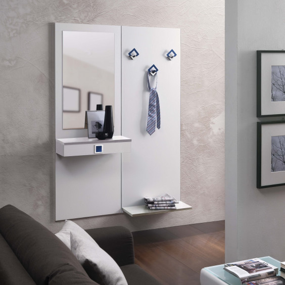 Family F04 modern hallway furniture with coat rack - 1 drawer