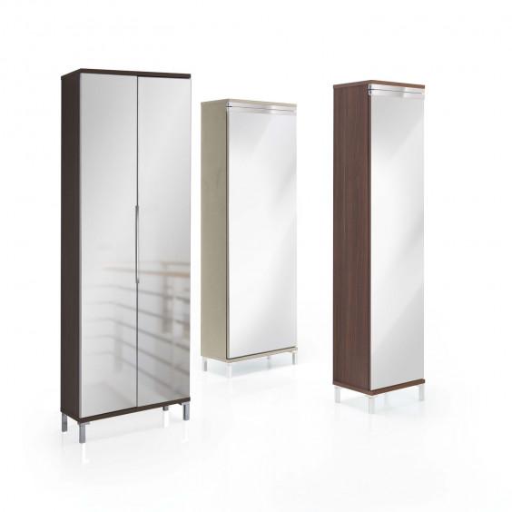 Evolution Mirror shoe cabinet with mirror doors