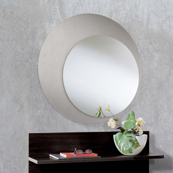 Evolution Glass round mirror in frosted glass