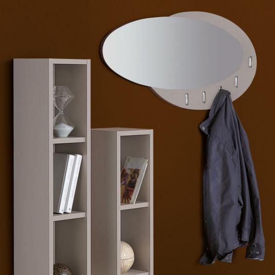 Evolution wooden coat rack with mirror