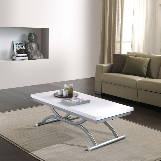 Co-Ala is an adjustable and coffee table convertible in dining table