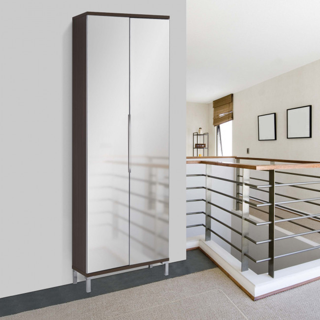 Evolution Mirror Is A Shoe Cabinet With Mirrored Doors. This Model May  Contain Up To