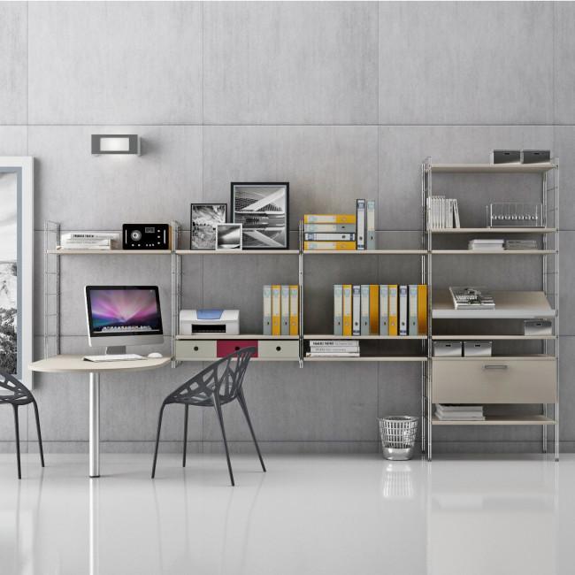 Link Office Modern Metal Shelf Unit