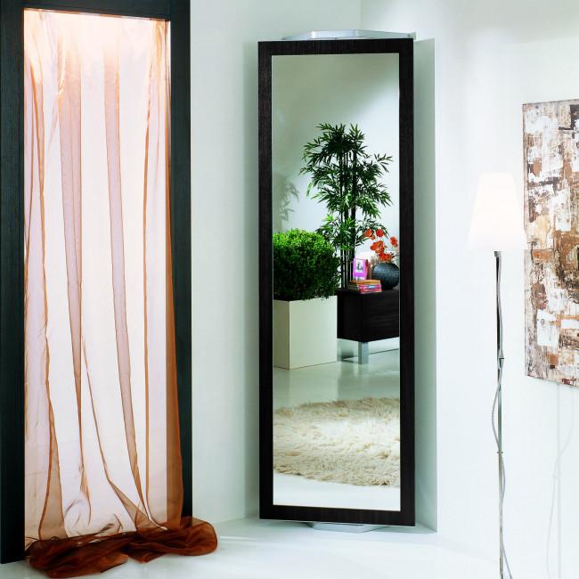 Full Length Dark Wood Mirror