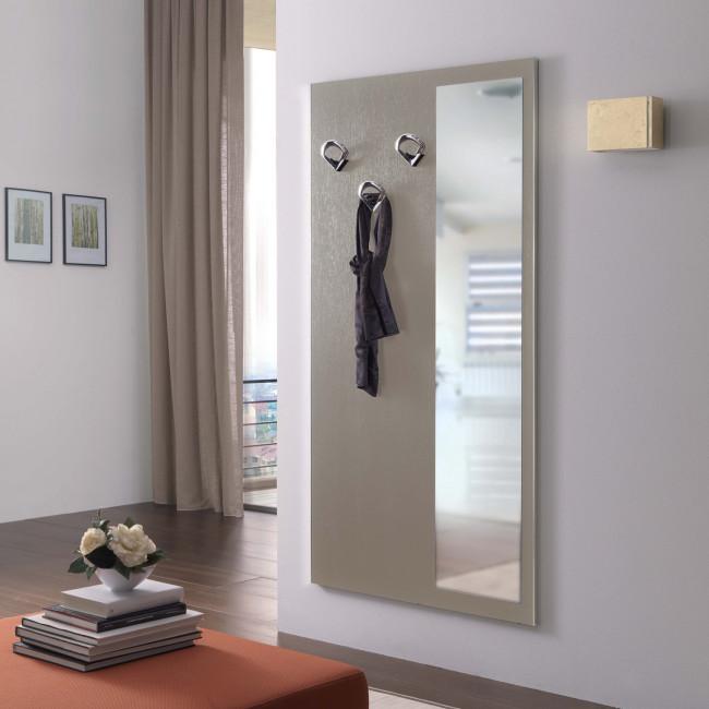 Family f10 wall mounted coat rack with mirror for Scarpiera con specchio ikea
