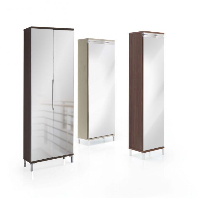 Evolution mirror shoe cabinet with mirror doors for Scarpiera con specchio ikea