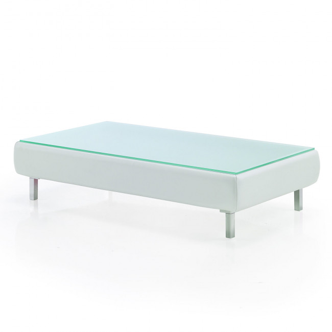 Soft Storage Coffee Table With Glass Top