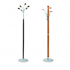 Smile wooden coat stand with 3 and 6 hooks (dark oak and cherry finish out of production)