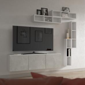 Set di contenitori a parete modulari, componibili a piacere per arredare ingresso, soggiorno e molti altri spazi della casa